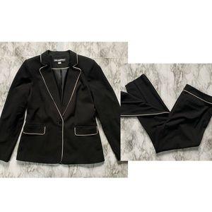 Karl Lagerfeld Paris black blazer pants suit set